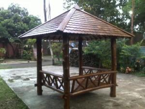 contoh gazebo bambu