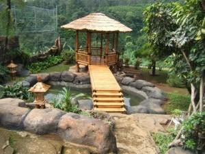 gambar gazebo bambu