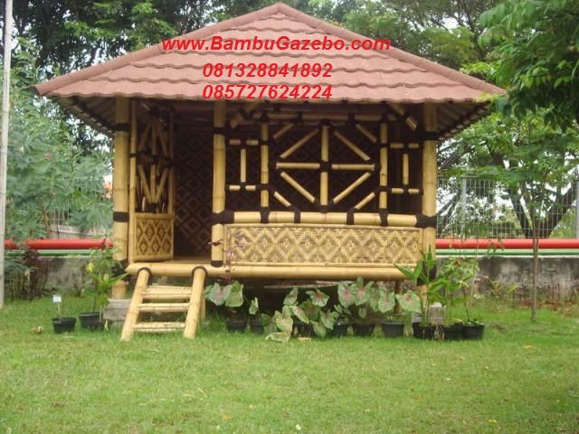 jual gazebo bambu murah di semarang