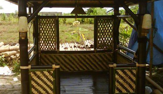 jual gazebo bambu di salatiga