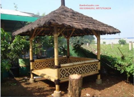model gazebo bambu murah minimalis